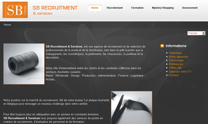 Screen shot du site web
